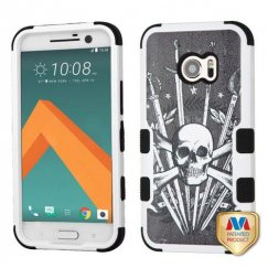 HTC 10 Sword & Skull/Black Hybrid Case