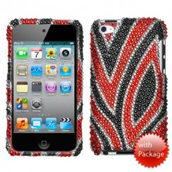 Apple iPod Touch (4th Generation) Jungle Fever Premium Diamante Case