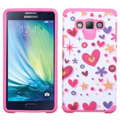 Samsung Galaxy A7 Heart Graffiti White/Hot Pink Advanced Armor Case