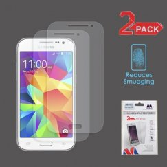Samsung Galaxy Core Prime Anti-grease LCD Screen Protector - Clear - 2-pack