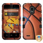ZTE Warp 4G Basketball-Sports Collection/Black Hybrid Case