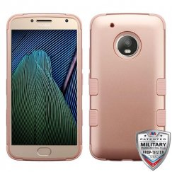 Motorola Moto G5 Plus Rose Gold/Rose Gold Hybrid Case Military Grade