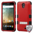 ZTE Avid Plus / Maven 2 Natural Red/Black Hybrid Case with Stand