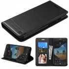 Alcatel One Touch Fierce XL Black/Black wallet with Card Slot