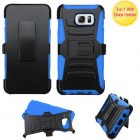 Samsung Galaxy Note 5 Black/ Blue Advanced Armor Stand Case with Black Holster