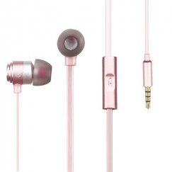 Rose Gold Metal Stereo Handsfree