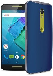 Motorola Moto X Style 16GB XT1575 Android Smartphone - Unlocked GSM - Blue with Yellow Accents