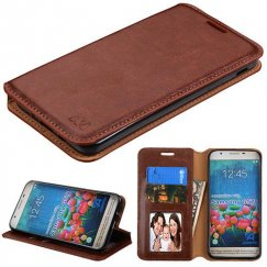 Samsung Galaxy J5 Prime Brown Wallet with Tray