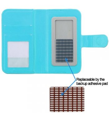 Universal Light Blue Diamonds Wallet