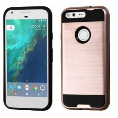 Google Pixel Rose Gold/Black Brushed Hybrid Case