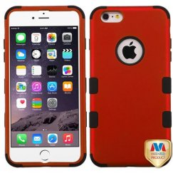 Apple iPhone 6/6s Plus Titanium Red/Black Hybrid Case