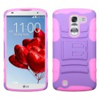 LG G Pro 2 Purple/Electric Pink Advanced Armor Stand Protector Cover