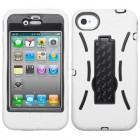 Apple iPhone 4/4s Black/White Symbiosis Stand Case