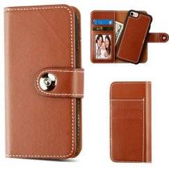 Apple iPhone 8 Brown Detachable Magnetic 2-in-1 Wallet