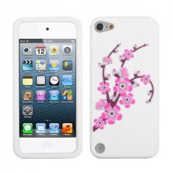 Apple iPod Touch (5th Generation) Spring Flowers/White Pastel Skin Cover