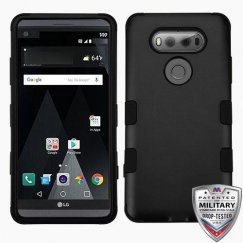 LG V20 Rubberized Black/Black Hybrid Case