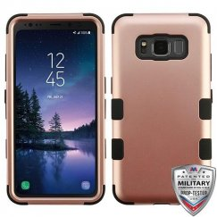 Samsung Galaxy S8 Active Rose Gold/Black Hybrid Case Military Grade