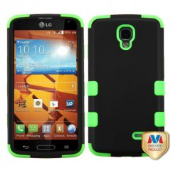 LG LS740 Volt Rubberized Black/Electric Green Hybrid Case