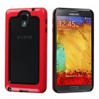 Samsung Galaxy Note 3 Black/Solid Red Case