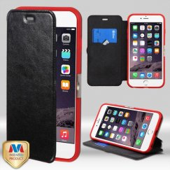 Apple iPhone 6/6s Plus Black Wallet with Natural Black/Red Tray