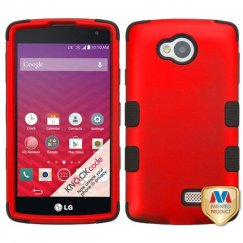 LG Tribute Titanium Red/Black Hybrid Case