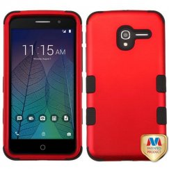 Alcatel Stellar / Tru 5065 Titanium Red/Black Hybrid Case