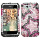 HTC Rhyme Twin Stars Diamante Case