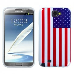 Samsung Galaxy Note 2 United States National Flag Candy Skin Cover