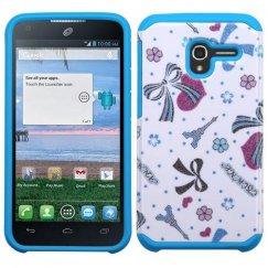 Alcatel Stellar / Tru 5065 Eiffel Towers/Ribbon/Blue Advanced Armor Case