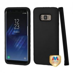 Samsung Galaxy S8 Rubberized Black/Black Hybrid Case
