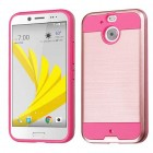 HTC Bolt Rose Gold/Hot Pink Brushed Hybrid Case