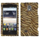 LG Spectrum 2 Tiger Skin (Camel/Brown) Diamante Case