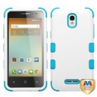 Alcatel One Touch Elevate Natural Ivory White/Tropical Teal Hybrid Case