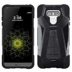 LG G6 Black Inverse Advanced Armor Stand Case