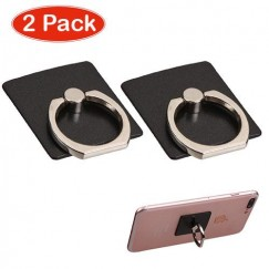 Black Adhesive Ring Stand (2pcs)