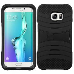 Samsung Galaxy S6 Edge Plus Black/Black Wave Symbiosis Case with Horizontal Stand