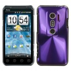 HTC EVO 3D Purple Cosmo Back Protector Cover
