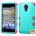 ZTE Uhura N817 Natural Teal Green/Electric Pink Hybrid Case