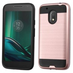 Motorola Moto G4 Play Rose Gold/Black Brushed Hybrid Case