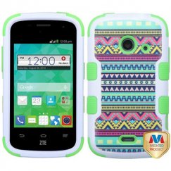 ZTE Prelude 2 / Zinger Tribal Sun/Electric Green Hybrid Case