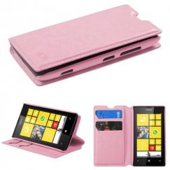 Nokia Lumia 520 Pink Wallet with Tray
