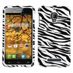 Alcatel One Touch Fierce Zebra Skin Case