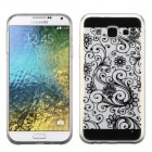 Samsung Galaxy E5 Black four-leaf Clover Candy Skin Cover