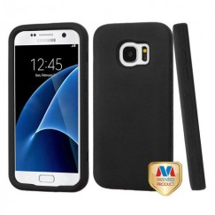 Samsung Galaxy S7 Rubberized Black/Black Hybrid Case