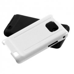 Samsung Galaxy S2 Solid Ivory White/Black Fusion Case