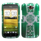 HTC One S White Celtic Cross Ring 2D Silver Case
