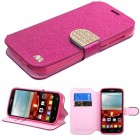 Alcatel One Touch Fierce 2 Hot pink Glittering (with Diamante Belt)