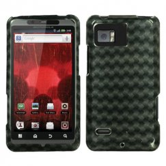 Motorola Droid Bionic Metal Plaid 2D Silver Case