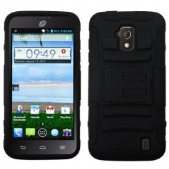ZTE Solar Black/Black Advanced Armor Stand Case
