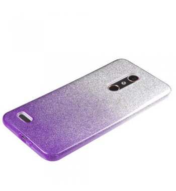 ZTE Grand X Max 2 Purple Gradient Glitter Hybrid Protector Cover